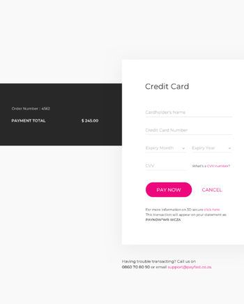 Credit Card Checkout Template